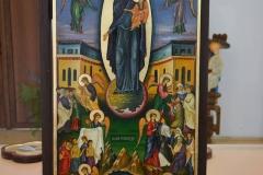 """""""Пресвета Богородица радост на всички скърбящи"""", яйчна темпера, 45х115"""