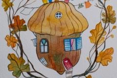 """""""Дом I""""  – акварел върху хартия"""