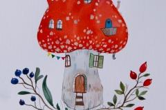 """""""Дом II"""" – акварел върху хартия"""