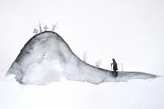 """Илюстрация по """"Селско гробище"""" на Цочо Бояджиев"""
