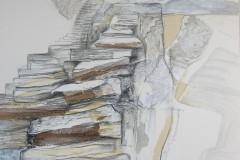 """""""Посоки I"""", смесена техника върху хартия, 70/50 см."""