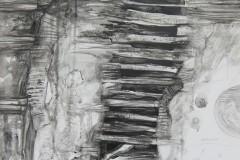 """""""Пластове II"""", смесена техника върху платно, 100/70 см."""