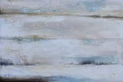 """""""Късно лято"""", акрилни бои, текстура, смесена техника, 75/116 см."""