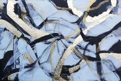 """""""Нова вълна"""", 2018 г., минималистична серия, смесена техника, 75/116 см."""