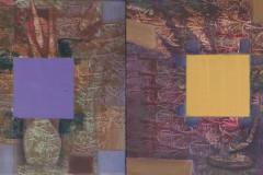 """""""Диптих. Тайната на цветовете"""", м. б. платно, 30/60 см., 2020 г."""