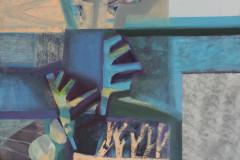 """""""Морска градина. II"""", м. б. платно, 65/54 см., 2020 г."""