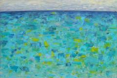"""""""Морето"""", масло на платно, 100/100 см., 2019 г."""