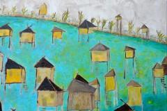 """""""Наколни жилища"""", масло на платно, 50/60 см., 2019 г."""