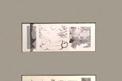 """Трима търпеливи"", колаж, CGD, диптих, 60/40 см., 2019 г."
