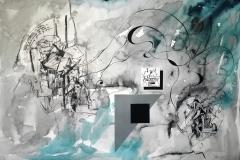 """""""Завръщане у дома. III"""", колаж, смесена техника, 70/100 см., 2019 г."""