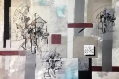 """""""Завръщане у дома. I"""", колаж, смесена техника, 70/100 см., 2019 г."""