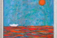 """""""Далечно море"""", маслени бои върху платно, 90/90 см."""