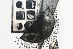 """""""В търсене на лунни пътеки I"""", литография, 35/50"""