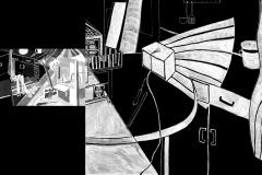 """""""Куклената къща 2"""" – темперна боя (авторска визуална интерпретация по разказ на Туве Янсон)"""