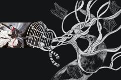 """""""Маймуната 2"""" – темперна боя (авторска визуална интерпретация по разказ на Туве Янсон)"""