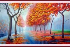 """Есенна идилия"", масло върху платно, 90/50 см."