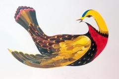 """Птица 1"" – 420х297 мм, цветен туш, 2015 г."