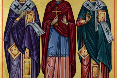 """Св. Амвросий, св. Моника и св. Августин"""