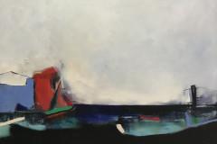 """""""Над морето"""", масло върху платно, 70/100 см."""