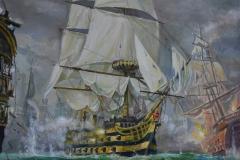 """""""Морска битка"""", масло, 60/70 см."""