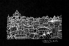 """""""Париж. 5"""", бял тънкописец върху хартия"""
