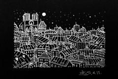 """""""Париж. 7"""", бял тънкописец върху хартия"""