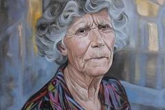 """Портрет на баба ми"", масло, 46/55 см, 2018"
