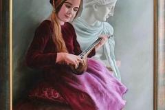"""""""Портрет на Мария"""", масло, 50/70 см"""