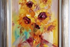 """""""Слънчогледи"""", маслени бои, 30/40 см."""