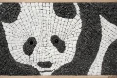 """""""Панда"""", мозайка-естествен камък, 22/44 см."""