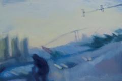 """Градски пейзаж"", масло върху платно, 130/150 см., 2015 г."