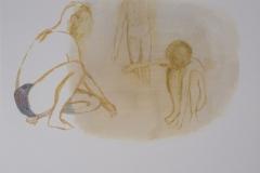 """""""Пясъчен замък"""", маслени бои върху хартия, 15/18 см., 2014 г."""