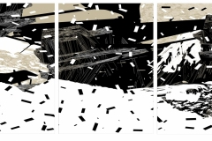 """""""Без звук  3"""", пигментен печат върху хартия, 100/360 см., 2019 г."""