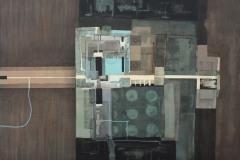 """Заключени пространства. Желание I"", м. б. платно, 70/63 см., 2013"