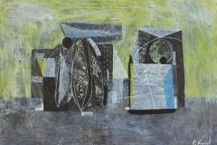 """""""Бряг I"""", туш върху картон, 24.5/35 см., 2012"""