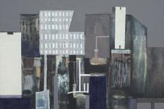 """Град II"", м. б. платно, 30/30 см., 2015"