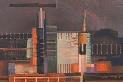 """""""Индустриален пейзаж I"""", акрил върху платно, 30/30 см., 2017"""