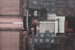 """Заключени пространства. Желание II"", м. б. платно, 70/63 см., 2013"