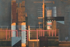 """""""Индустриален пейзаж III"""", акрил върху платно, 30/30 см., 2017"""