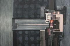 """Заключени пространства. Желание III"", м. б. платно, 70/63 см., 2013"