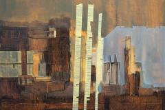 """Пейзаж II"", м. б. платно, 46/55 см., 2016"