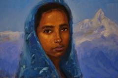 """Индийско момиче"", масло, 45х70 см"