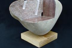 """""""Композиция"""", камък и дърво, 37/17/26 см."""