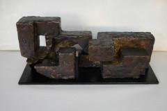 """Композиция"", месинг и желязо, 31/12.5/12.5 см."