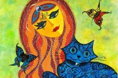 """серия """"Жената с котката"""""""