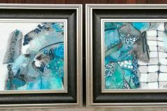 """2. """"Морско дъно"""", диптих, акрил и масло"""