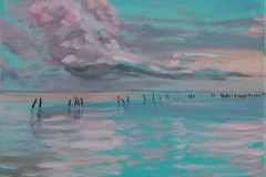 """""""Море"""", маслени бои върху платно, 25/30 см., 2017 г."""