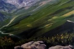 """Мусала"", маслени бои върху платно, 100/70 см., 2018 г"