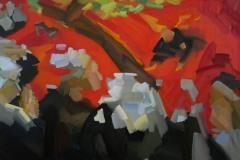 """""""Видение след проповед или борбата на Яков с Ангела"""" (""""The Vision after the Sermon or Jacob fighting with the Angel"""", Paul Gauguin), маслени бои върху платно, 2018 г."""