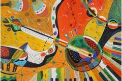 """""""Free Jazz"""", акрил на платно, 65х81см."""